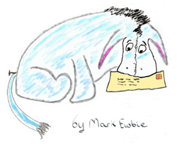 Eeyore with a letter