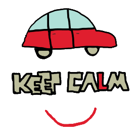 Keep Calm Driving Test design