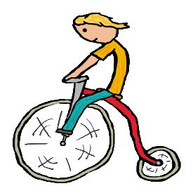 Penny-farthing graphic