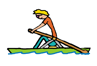 Single scull rower